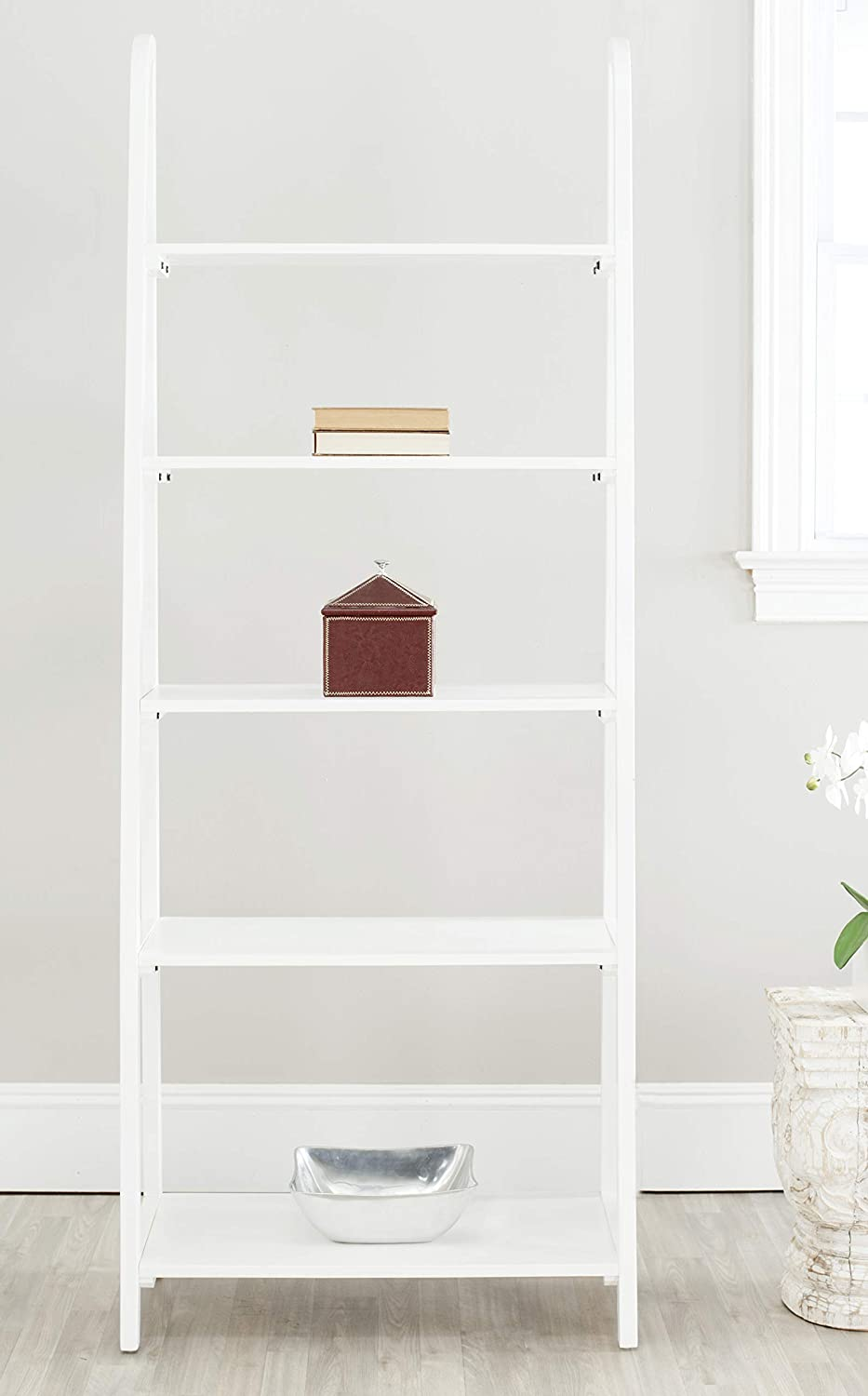 Safavieh American Homes Collection Albert 5-Tier White Étagère Bookcase