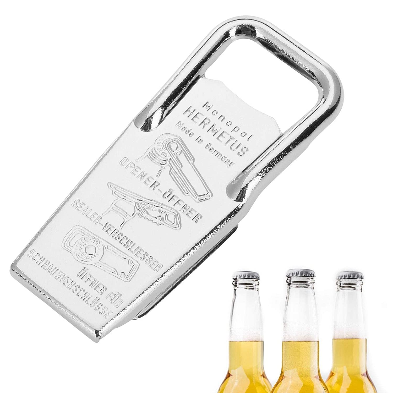Westmark Germany Hermetus Steel 3-in-1 Resealer Beer Bottle Opener