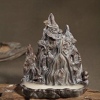 backflow incense burner  : Mountain Stream Smoke Backflow Incense Burner/holder ...