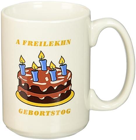 Amazon.com: 3dRose feliz cumpleaños en Yiddish con Choc ...