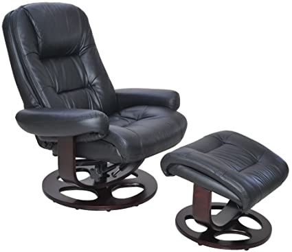 Barcalounger Jacque II Leather Recliner U0026 Ottoman   Black