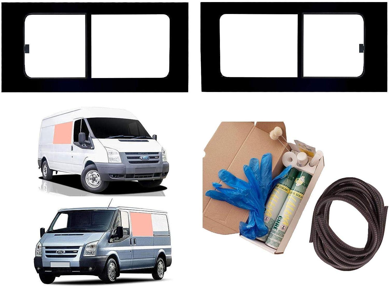 Mano izquierda y mano derecha ventana de apertura transparente doble para Ford Transit (2000 – 2013) [MWB; LWB]: Amazon.es: Coche y moto