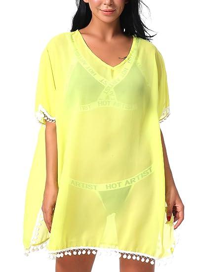 79cb6420944f3 LuxShow Women s Swimsuit Cover up Bikini Bathing Suit Cover ups Swimwear Plus  Size for Beach