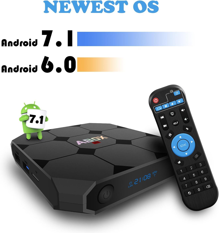 Android TV Box 7.1, globmall Abox A1 Max Quad Core Smart TV Box, único RK3328 Chip y USB 3.0 Apoyo 4 K real jugando: Amazon.es: Electrónica