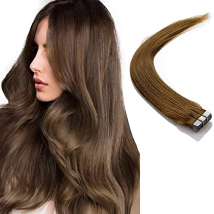 Extensiones cinta adhesiva de pelo natural - Tape in Human Remy Hair Extensions - 50cm 50g