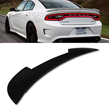 Dodge Charger 2011-2017 Trunk Spoiler Rear Color Matched Painted BLACK PX8