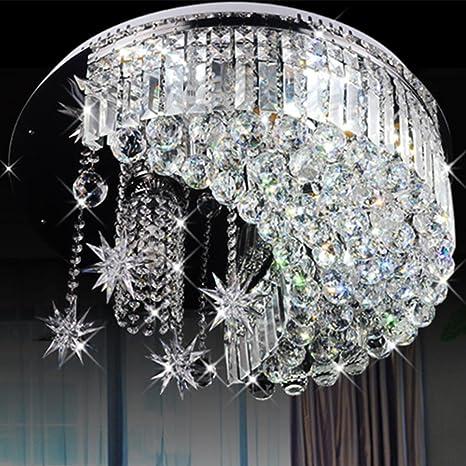 Lámpara de techo cristal k9 lámpara LED Salón techo Leuchten ...