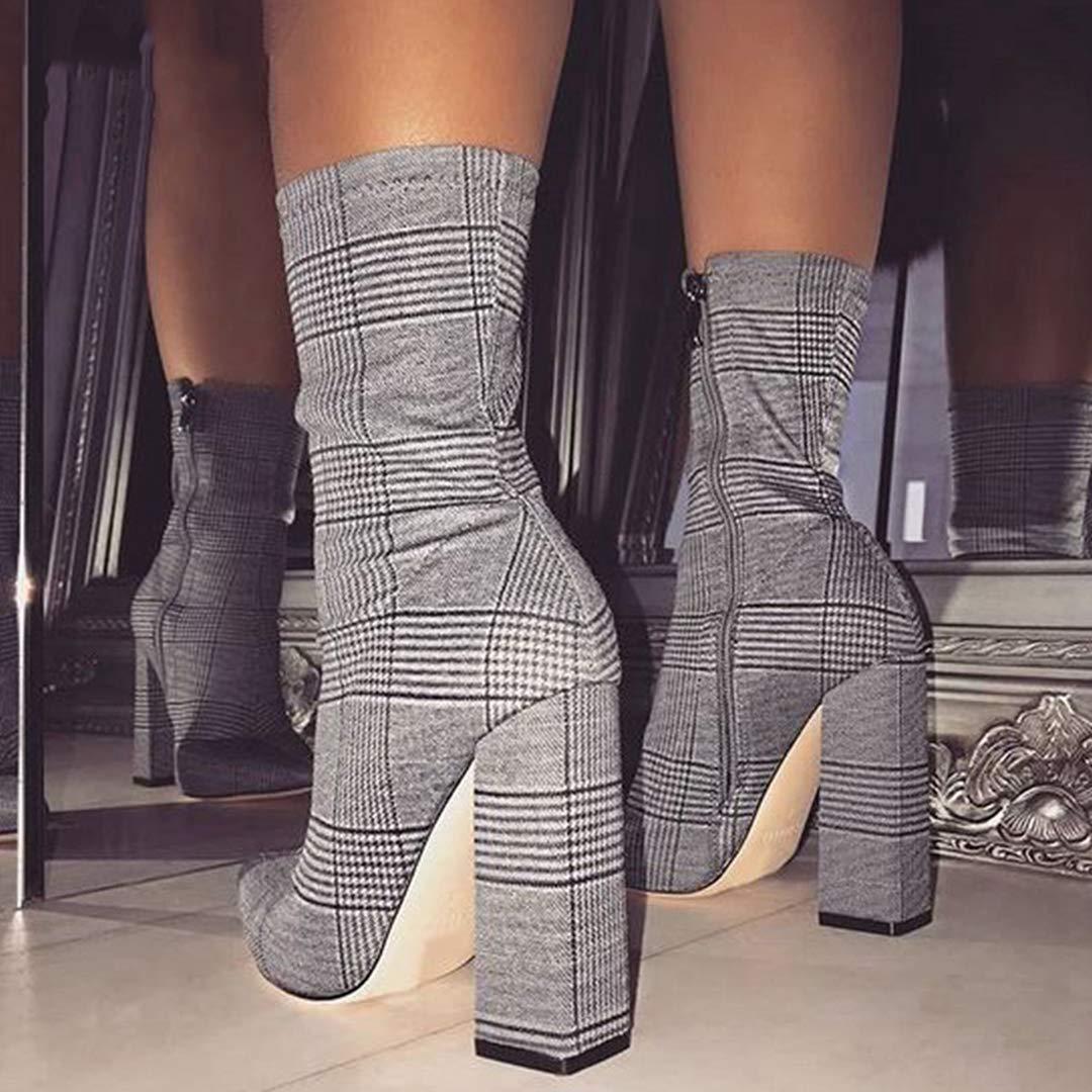 Sexy Ankle Stiefel für Frauen Schuhe Schuhe Schuhe Spitzschuh Thick High Heels Party-Stiefel 1be766