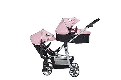 Silver Cross Cochecito para muñecas Wave: Tejido Vintage Pink. para niños y niñas de