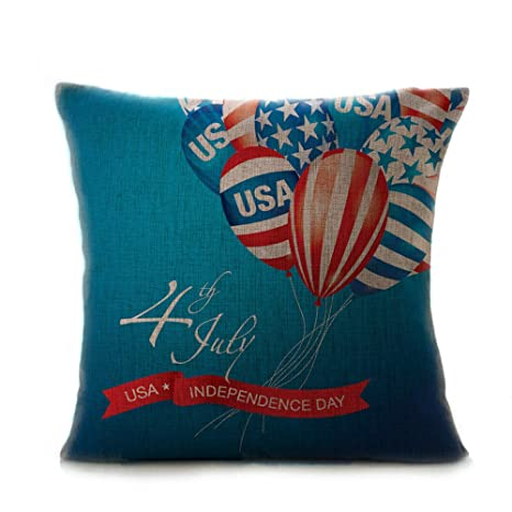 XuanhaFU - Funda de cojín Bandera Americana Exquisito ...