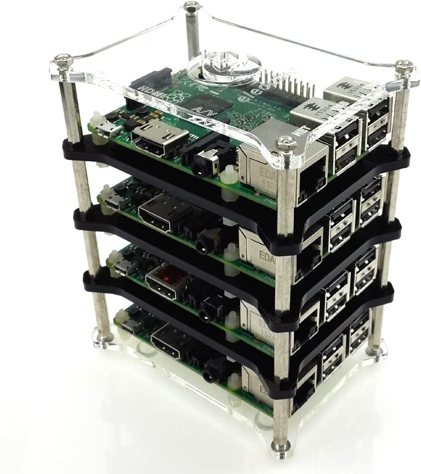Mepro Raspberry Pi 3 Stack Clear Case Enclosure Box Computers Accessories