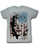 Marilyn Monroe Shirt Marilyn Flag Adult Grey Tee T-Shirt