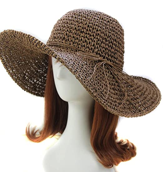 996e6cd683c Image Unavailable. Image not available for. Color: Chic Ladies Straw ...