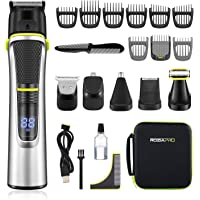 Roziapro Beard Trimmer for Men - 15 in 1 Mens Grooming Kit - Cordless Hair Clippers for Men - Nose Hair Trimmer…