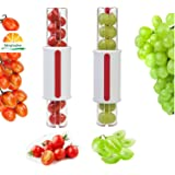bingx Tomato Slicer Grape Slicer Fruit Vegetable Salad Slicer Cherry Slice 1 pcs Random Color