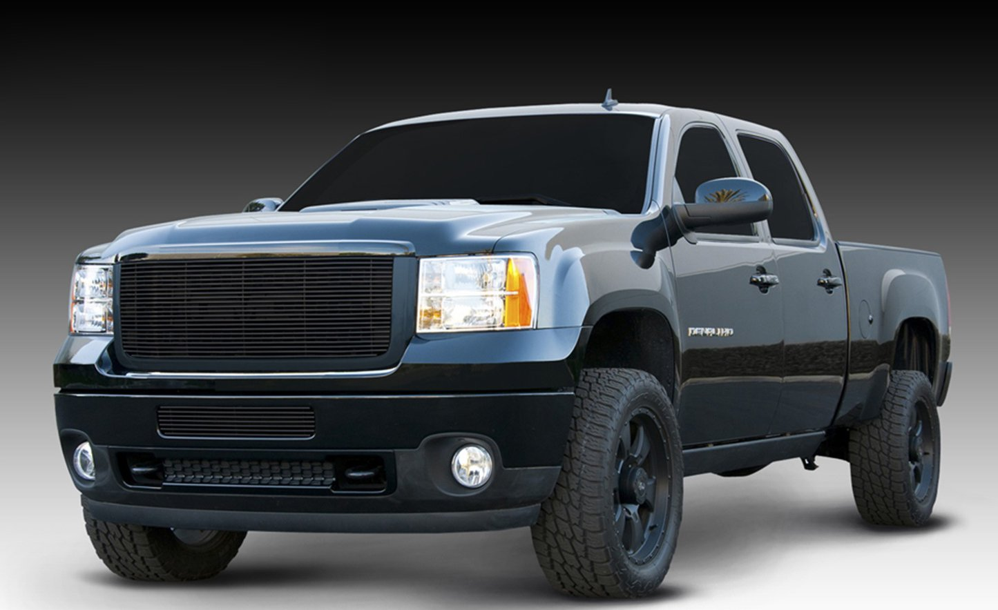 T-Rex Grilles 21209B Horizontal Aluminum Black Finish Billet Grille Insert and Overlay for GMC Sierra 2500HD//3500