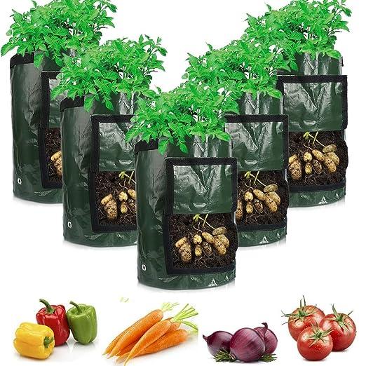 TooTaci 5 Bolsas de Cultivo para Plantas, Bolsa de 10 ...