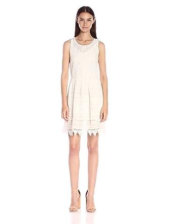 933dfa93bc5 Lucky Brand Women s Textured Eyelet Dress at Amazon Women s Clothing ...