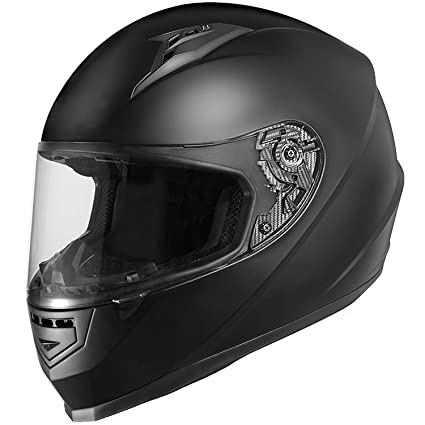 5d2f8ad8 Image Unavailable. Image not available for. Color: GLX Unisex-Adult Full  Face Motorcycle Helmet Street Bike Matte Black ...
