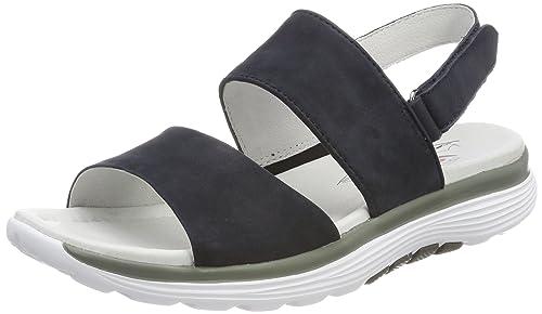 Gabor Shoes Rollingsoft, Sandalia con Pulsera para Mujer, Azul (Pazifik), 37 EU
