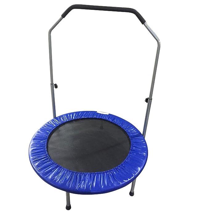 Adulte pour enfants 101,6cm Round trampoline Junior Intérieur ou extérieur saut jouet d'été Fun Fitness Gym trampolines avec support guidon