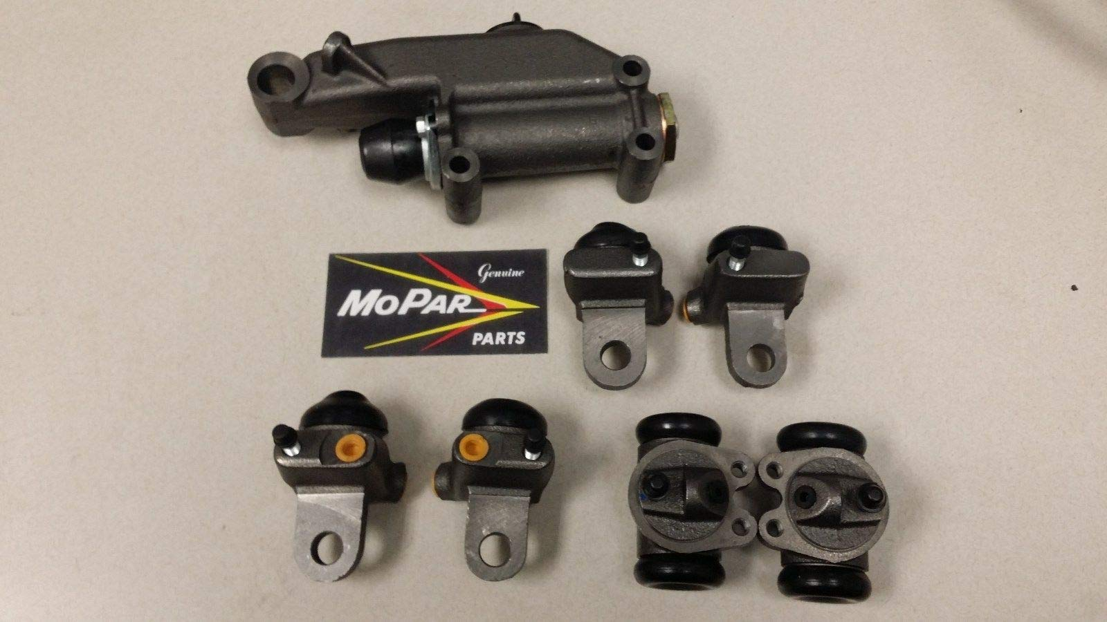 1948 WHEEL CYLINDERS SET BRAKE MASTER CYLINDER D24 P15 COMPATIBLE WITH CHRYSLER by Vintage American Auto Parts