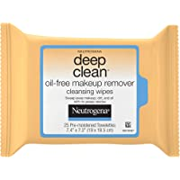 Neutrogena Deep Clean Makeup Remover Cleansing Wipes, 25 Count