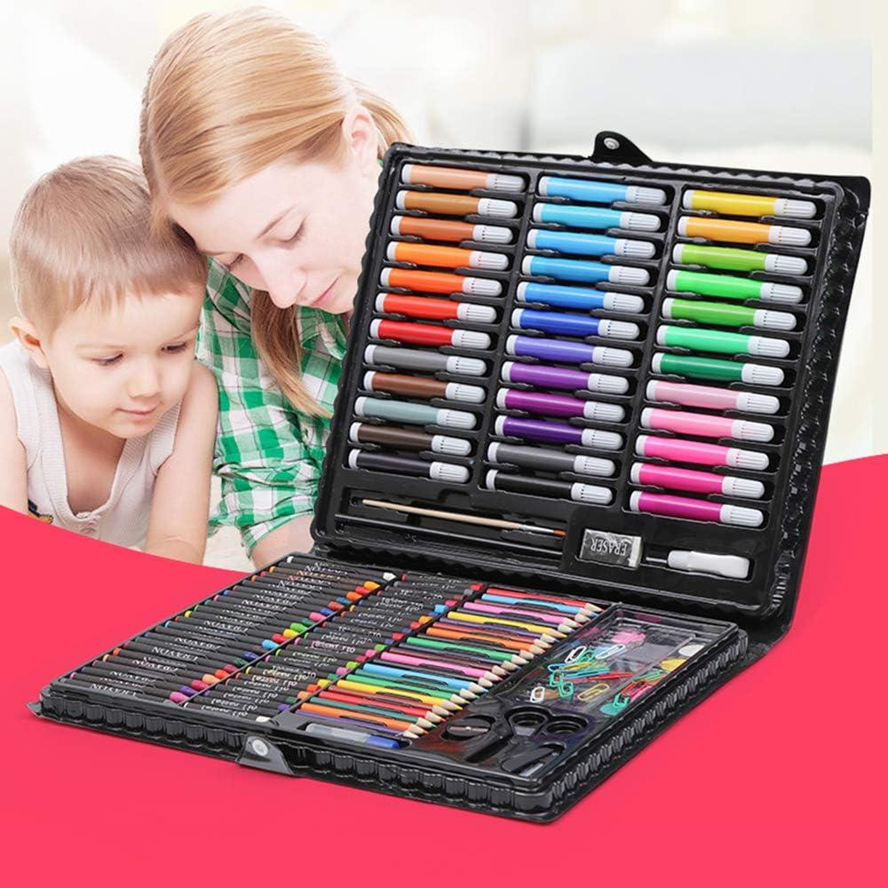Art Set per Bambini Acquerello Matita 150pcs Kids Drawing Artist Kit Crayon Olio Pennello Disegno Strumento Regalo con Scatola per Cancelleria Scuola Nv Wang Colori Art Set per Studenti