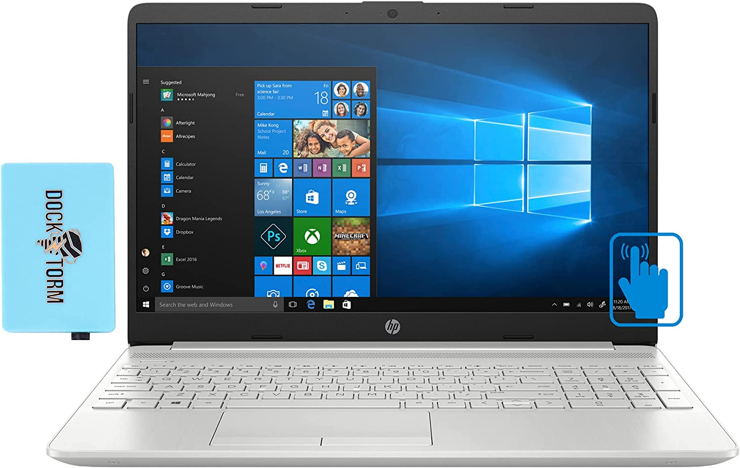HP 15t-dw300 Home & Business 15.6″ Touch Laptop, 11th Gen Core i7 4-Core, 16GB RAM, 512GB SSD