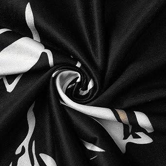 Voicry damska luźna sukienka mini z nadrukiem boho z długim rękawem i dekoltem w kształcie litery V: Odzież