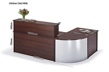 National Office Furniture Supplies Curved Walnut Reception Desk