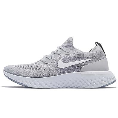 official photos 9373c 285e4 Amazon.com   Nike Kids  Grade School Epic React Flyknit Running Shoes (4,  Wolf Grey White)   Running