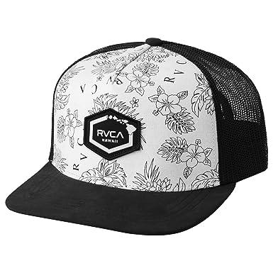 timeless design e729d 4ca47 ... sweden rvca mens hawaii hex patch trucker hat antique white one size  236c8 2c6b1 ...