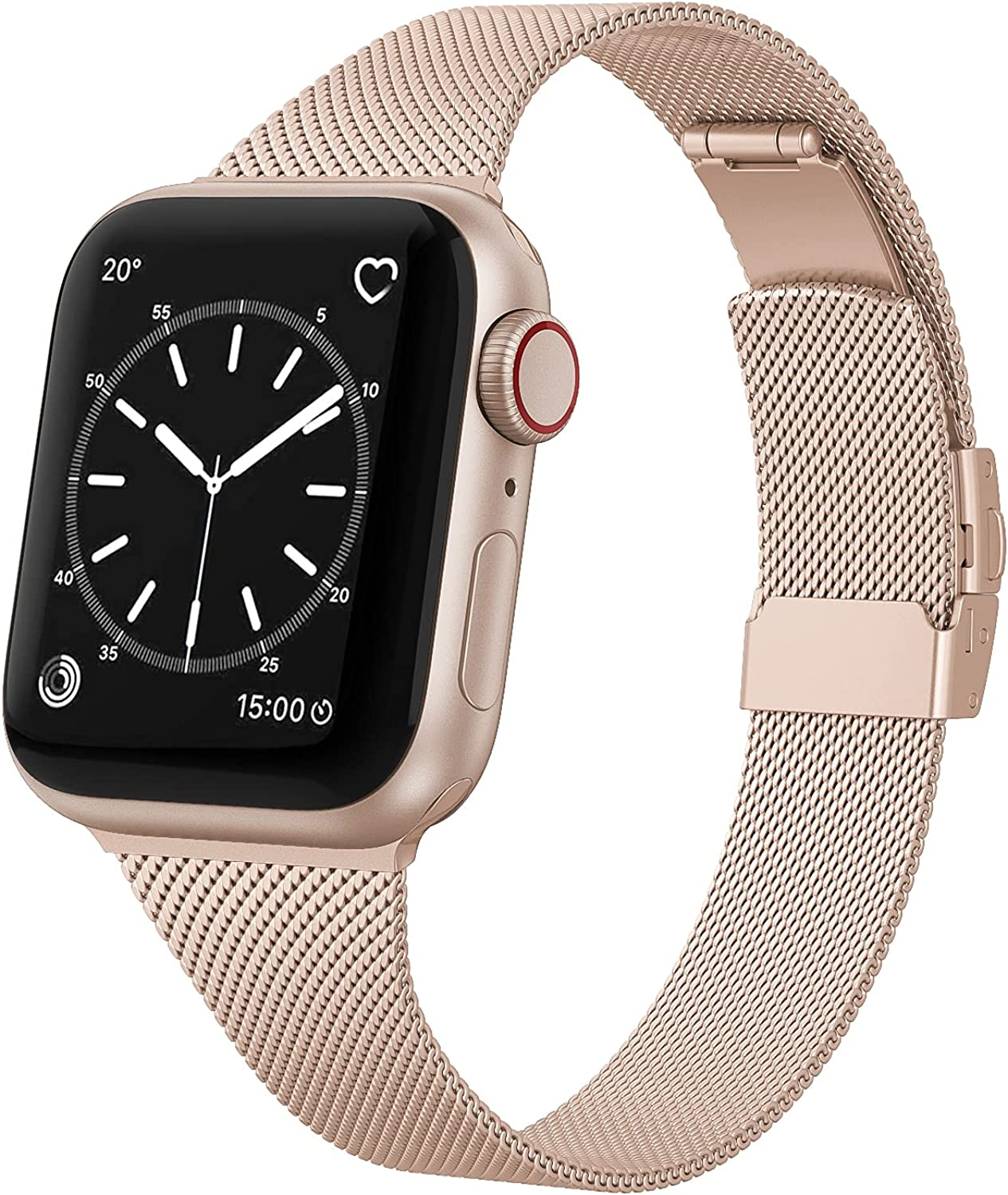 EDIMENS Stainless Steel Metal Bands Compatible with Apple Watch 38mm 40mm Band, Small Soft Thin Narrow Replacement Band for iWatch Series 6 5 4 3 2 1 SE Sports Edition Women, Black, Silver, Rose Gold