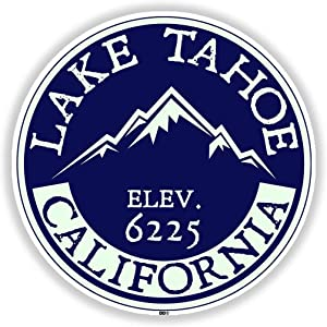 LAKE TAHOE CALIFORNIA SIERRA NEVADA ORIGINAL LAKE BOAT BOATING BEAR - Sticker Graphic - Auto, Wall, Laptop, Cell, Truck Sticker for Windows, Cars, Trucks