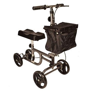 Andador de rodilla con frenos, altura ajustable y manillar plegable