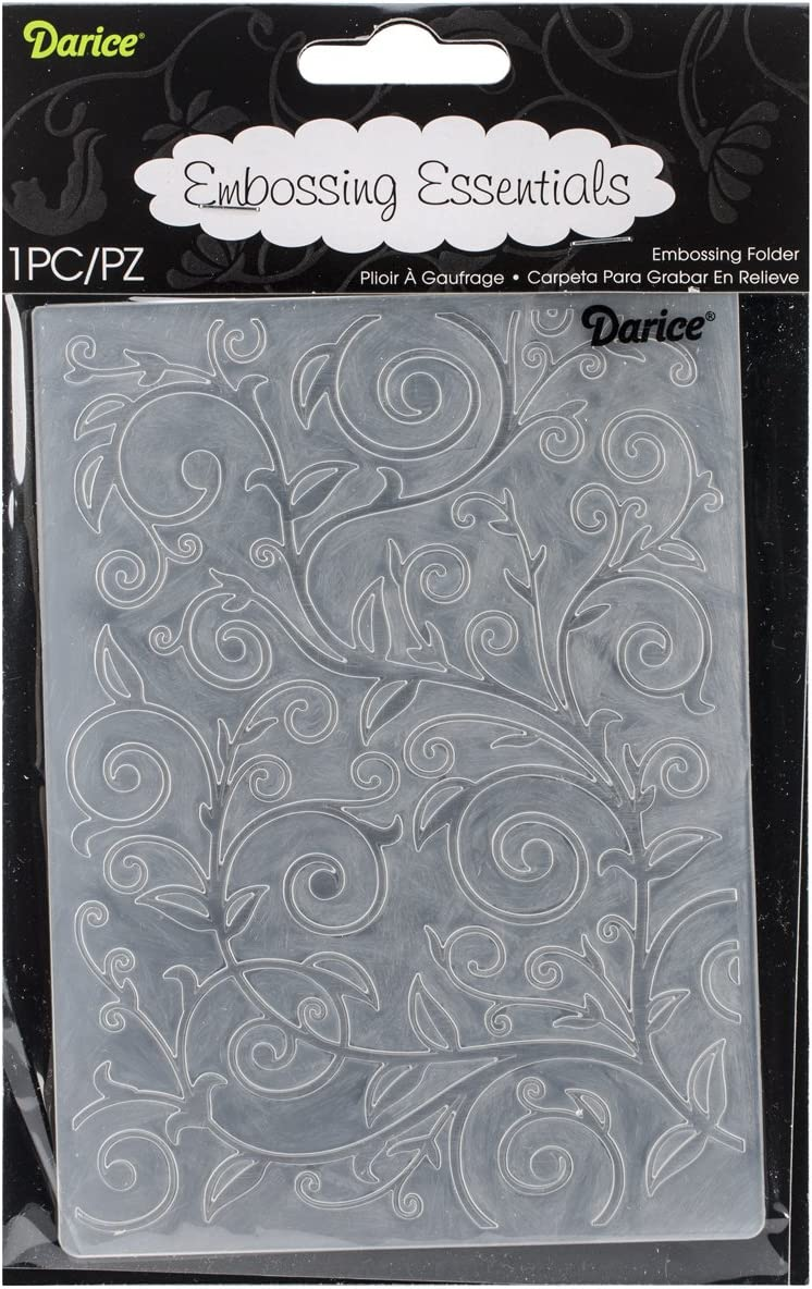 Darice Embossing Folder Crackle 4.25 X 5.75 Inches