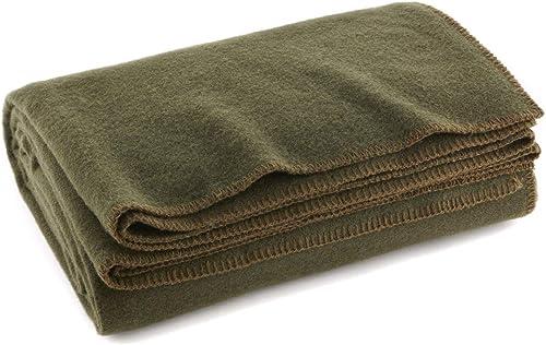 EverOne Olive Drab 80 Wool Fire Retardant Blanket