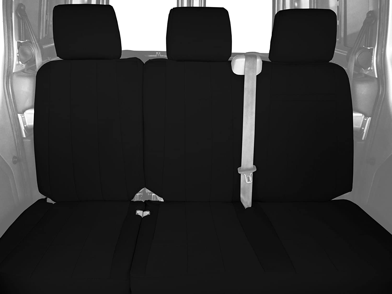 Black Insert and Trim CalTrend Rear Row 60//40 Split Bench Custom Fit Seat Cover for Select Chevrolet//GMC Models NeoSupreme