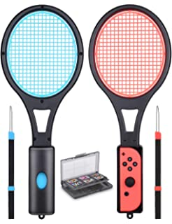 0481c1532028 Mario Tennis Racket - Tendak Tennis Racket for Nintendo Switch Joy-Con  Controllers Mario Tennis…