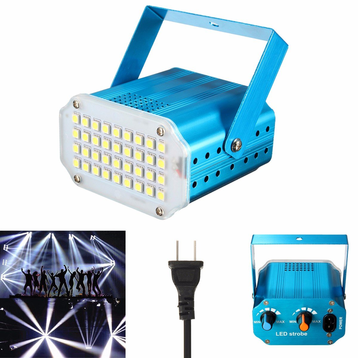 Strobe Light, GLISTENY Mini Disco Light Stage Lamp Party Flash ...