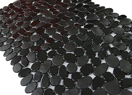 Ordinaire Shower Mat, Anti Slip Bath Mats,Slip Resistant Pebble Mat ( Black