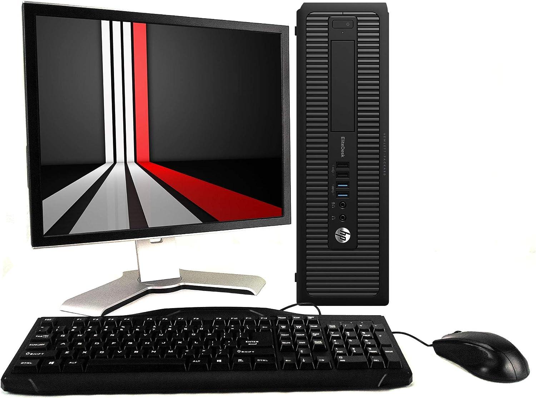 HP Computer Desktop, Intel Core i5-4590, 8GB DDR3 RAM, 120GB SSD & 2TB HDD, WiFi with New 24 inch FHD LED Monitor - Windows 10 Professional (Renewed)