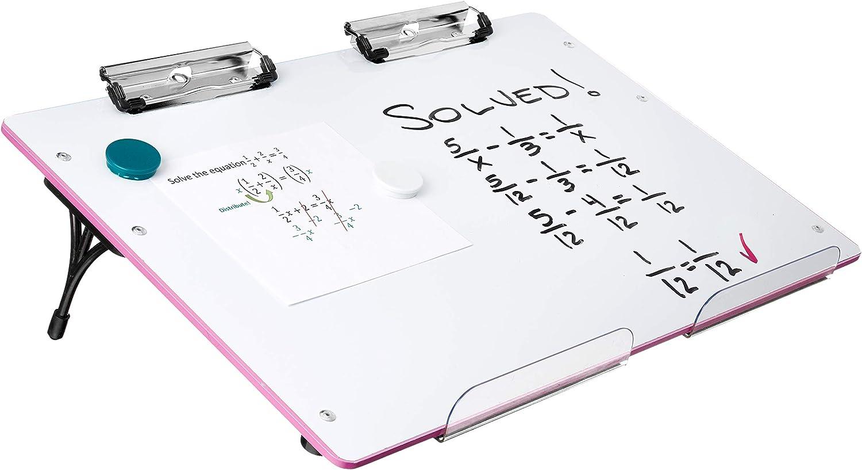 lecture Portable Bureau magn/étique tableau blanc effa/çable avec Presse-papiers art et discours pour lapprentissage optimal Visual Edge Slant Conseil A Surface de travail pour pente /écriture