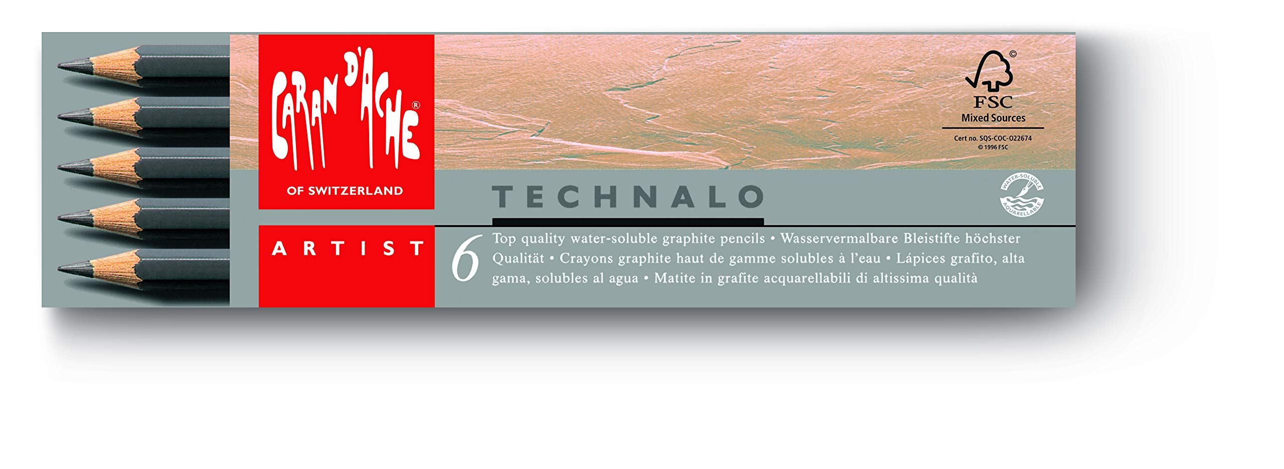 Caran D'ache Set of 6 Caran Dache Technalo Pencils (779.406)