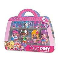 Pinypon by PINY PINY - 700012916 - Mini Poupée - Coffret 4 Figurines