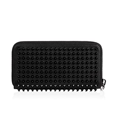 super popular 18792 9b9fc Christian Louboutin Women's 1165044Cm53 Black Leather Wallet ...