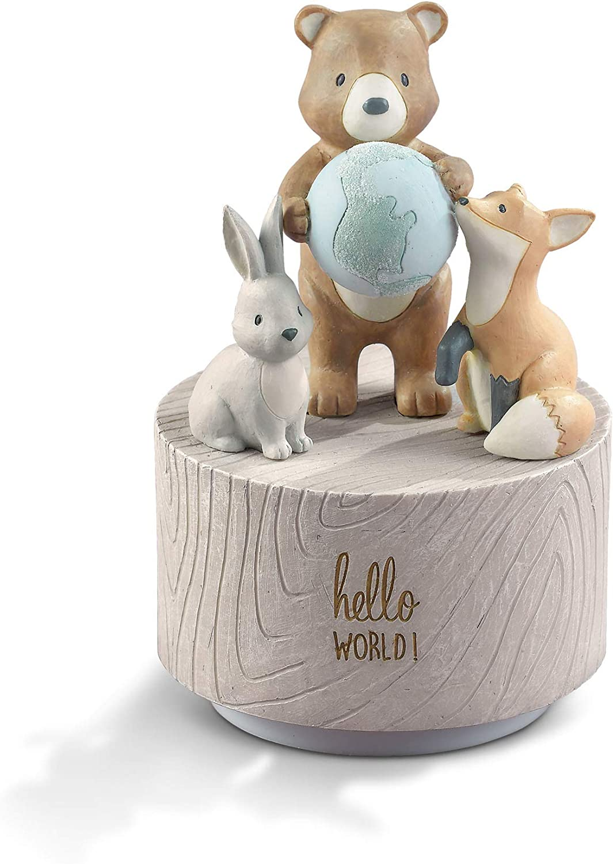 Hello World Musical Rotating Figurine Grasslands Road