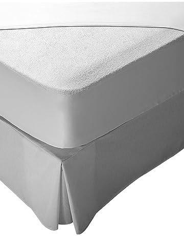 Pikolin Home - Protector de colchón rizo para cuna, 100% algodón, impermeable y