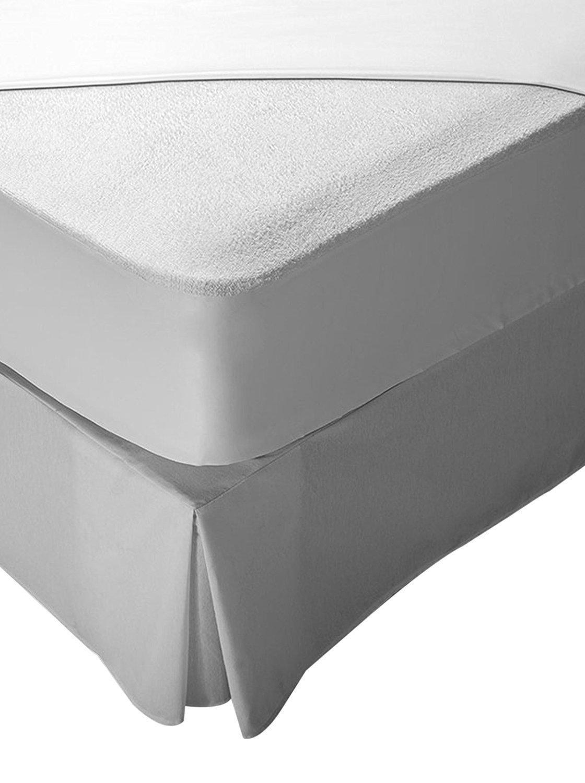 Pikolin Home - Protector de colchón rizo, 100% algodón, impermeable y transpirable, 90 x 190/200 cm, cama 90 cm (Todas las medidas): Amazon.es: Hogar